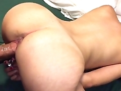 Amateur latina GF swallows my dick with her pussy
