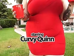 Curvy Quinn Tastes Her Mischievous Big Black Load of shit