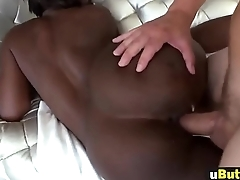 Jerry Tyera shakes her black booty and rides big white rod