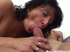 Stepson Restrained By Brunette Horny Stepmom