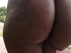 Bootylicious nubian buttfucked by white bloke