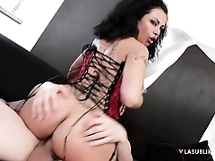 LaSublimeXXX Italian MILF Asia Morante needs to take chunky bushwa in ass
