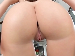 Givemepink April Blue has a perfect bubbly ass and enjoys a nice dildo in her tw