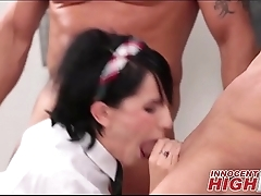 State school Girl Blackmails Two Teachers - InnocentHighHD.com