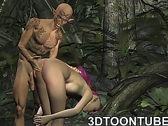 Busty 3D punk elf babe getting fucked deep and firm