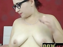 Busty BBW BellaSquirtX with sexy glasses and queasy bush - bbw-sexy.com