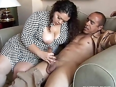 Pretty latina plumper loves sucking bushwa &amp_ the taste of cum