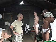 Deadly military rookie assfucked on base
