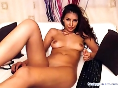 latina beauty with toy on live webcam  - freakygirlscams.com