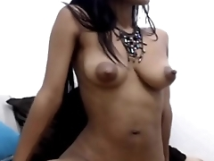 Ebony Teen has Careful Nipples - Dirtyyycams.com