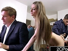 Sneaky Starved Bastard Fucks Boss'_s Wife and Daughter - Tarra White, Leyla Morgan