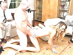 Blonde Teen With Nice Tits Molly Mae Riding On Dirty Old Dick