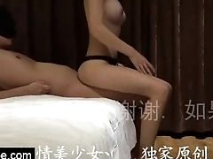 Chinese unprofessional team of two romantic fucking