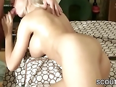 German Teen Seduce to Anal Fuck after Massage