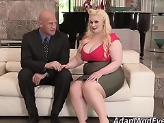 Fat babes mouth spunked