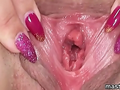 Spicy czech sweetie stretches her narrow cunt to the special