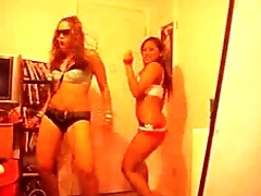 Hot Lesbian Roommates Dancing In Sexy Lingerie And High Heels - spankbang.org