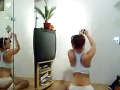 Hot Chick With A Sexy Tattoo Twerking In Front Of Mirror - spankbang.org