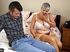 AGEDLOVE Granny Savana fucked with surely hard stick