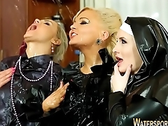 Latex nun pissed over