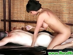 Asian beauty gives an amazing Japanese Nuru massage 09