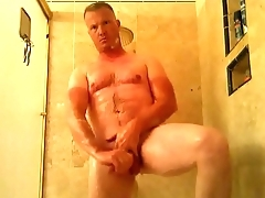 Seagoing comes home and strips natural for shower cum GlassDeskProductions