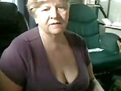Beautiful Grandma Flashes Breasts on Cam - SuperJizzCams.com