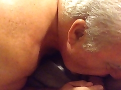 Senior Beggar Sucking A Cock