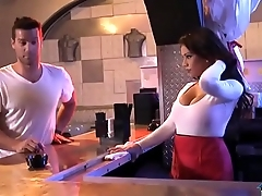 Latina bartender with big boobs fucked at the end of one's tether a customer