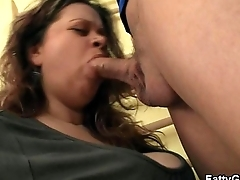 Busty plumper seduces and fucks him in the gym