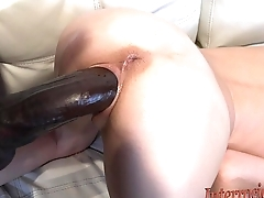 tiny tiny blonde takes biggest nefarious cock!