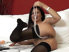 Sofia Cucci takes her duds off and masturbates her pussy