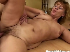 Hairy Pussy Mama Fucked By Young Teen Intensely