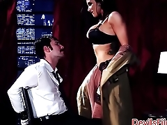 Busty femdom babe pussydrilled balls unfathomable cavity