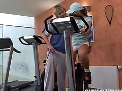 Anal sex in fitness rooms