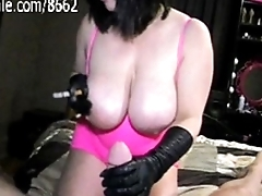 Slutty Milf Smoking cigarettes while Jacking Off Big cock!