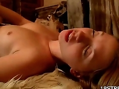 Amazing Sex With Gorgeous Blonde And Her Boo